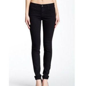Joes jeans black mid rise skinny legging jean